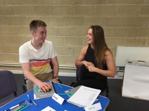 Students enjoying a recent careers skills workshop